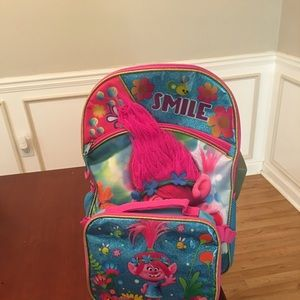 Trolls Backpack and matching Lunchbox